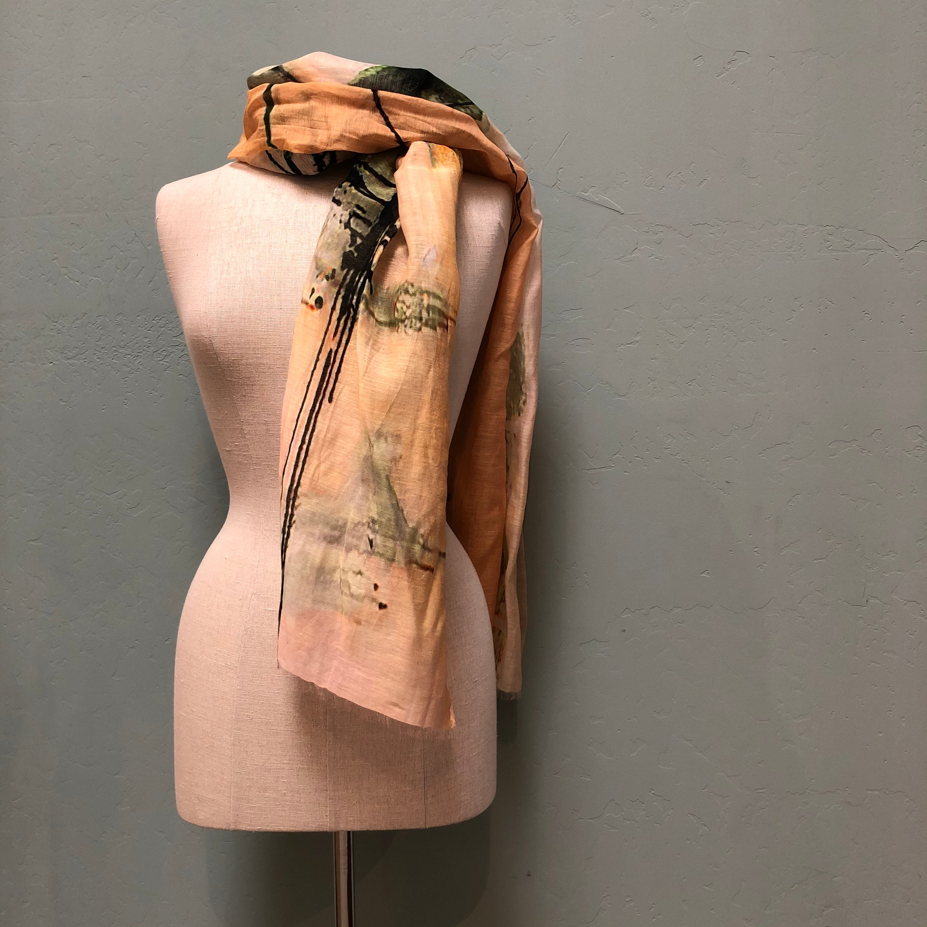 Lua Coral Abstract Scarf