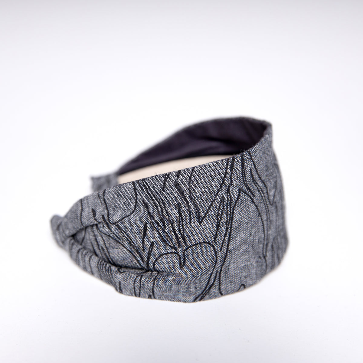 Cookie and the Dude Classic Headband in Black Alocasia