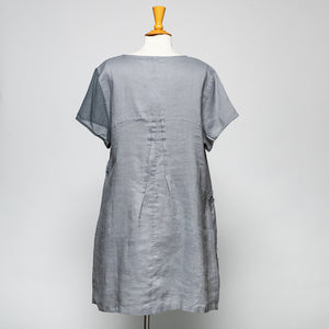 Peacock Ways Cap Sleeve Pullover Tunic - Grey