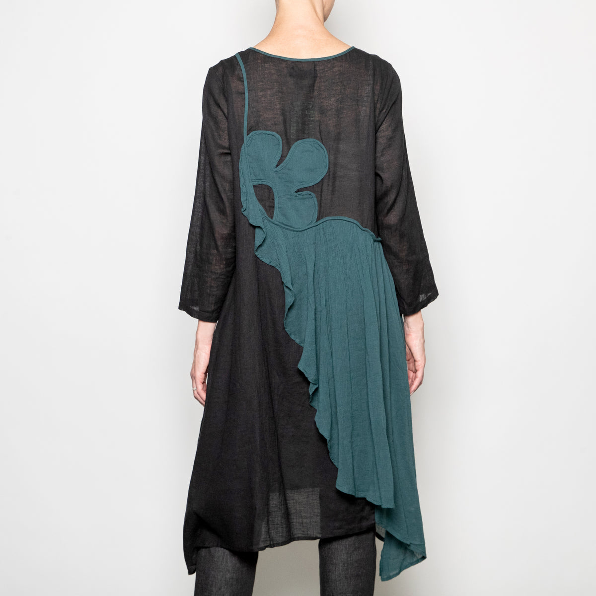Peacock Ways Diana Tunic in Black