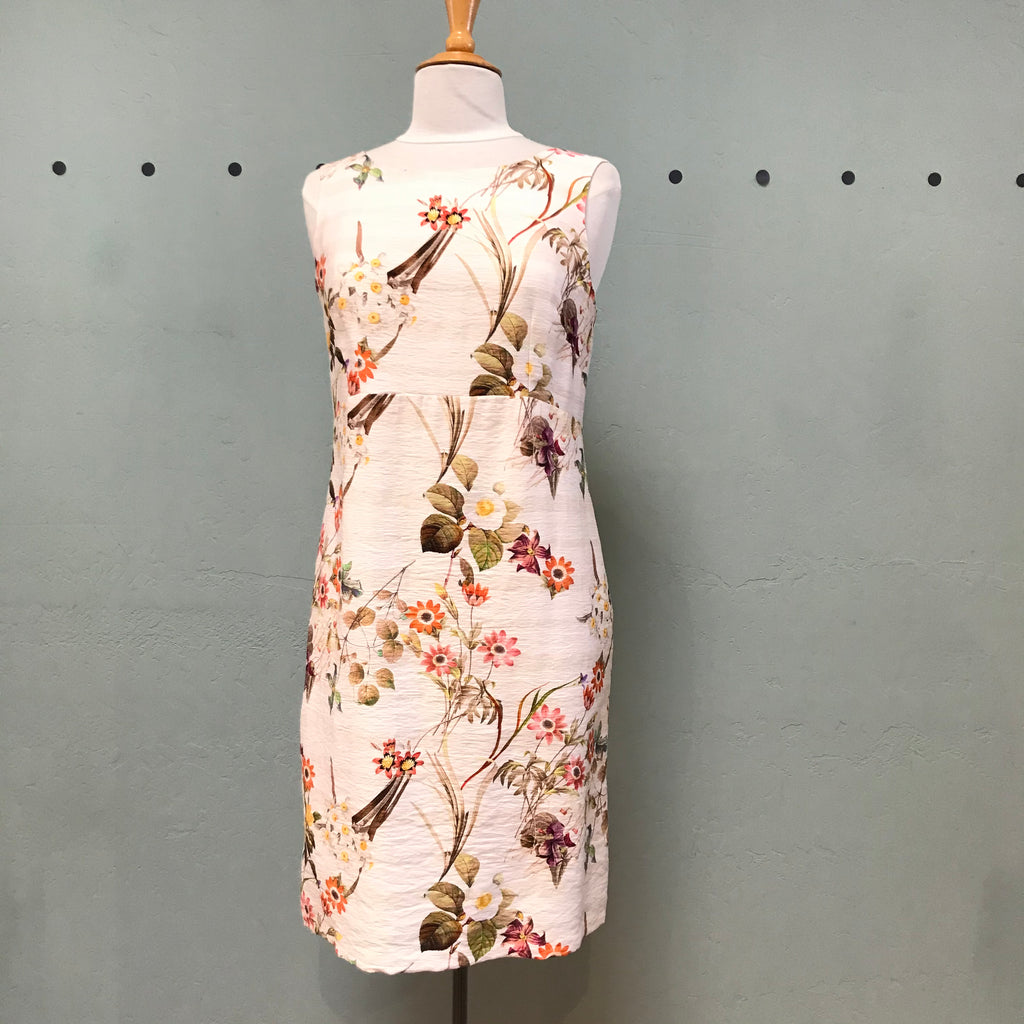 Pomodoro Cream Floral Shift Dress