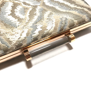 Sondra Roberts Marbled Fabric Clutch