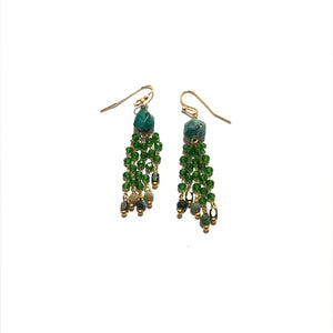 Nakamol Multi Crystal Drop Earrings