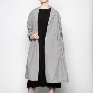 Baci Single Button Overcoat in Grey