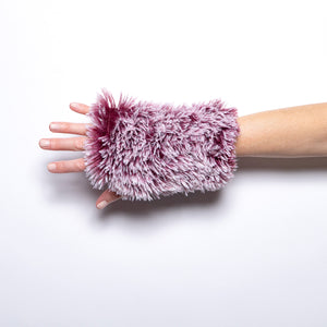 Pandemonium Fingerless Gloves in Cranberry and Berry