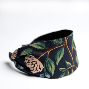 Cookie and the Dude Classic Headband in Midnight Peonies