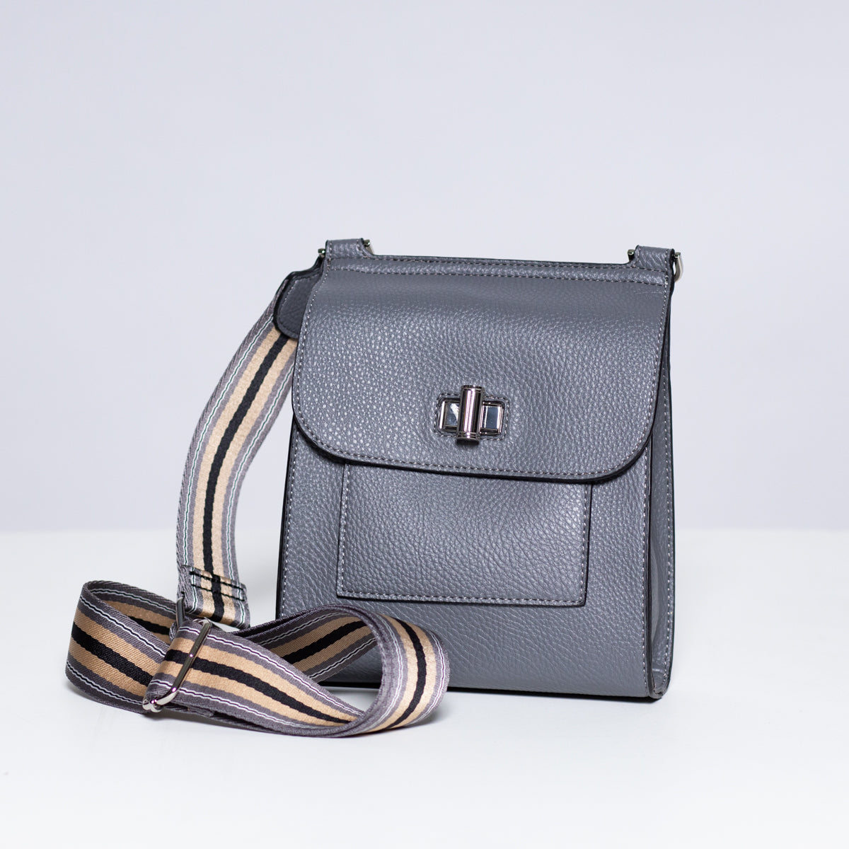 Sondra Roberts Cross Body in Pebble Grey