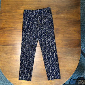 Krazy Larry Pull on Pant in Navy/Taupe