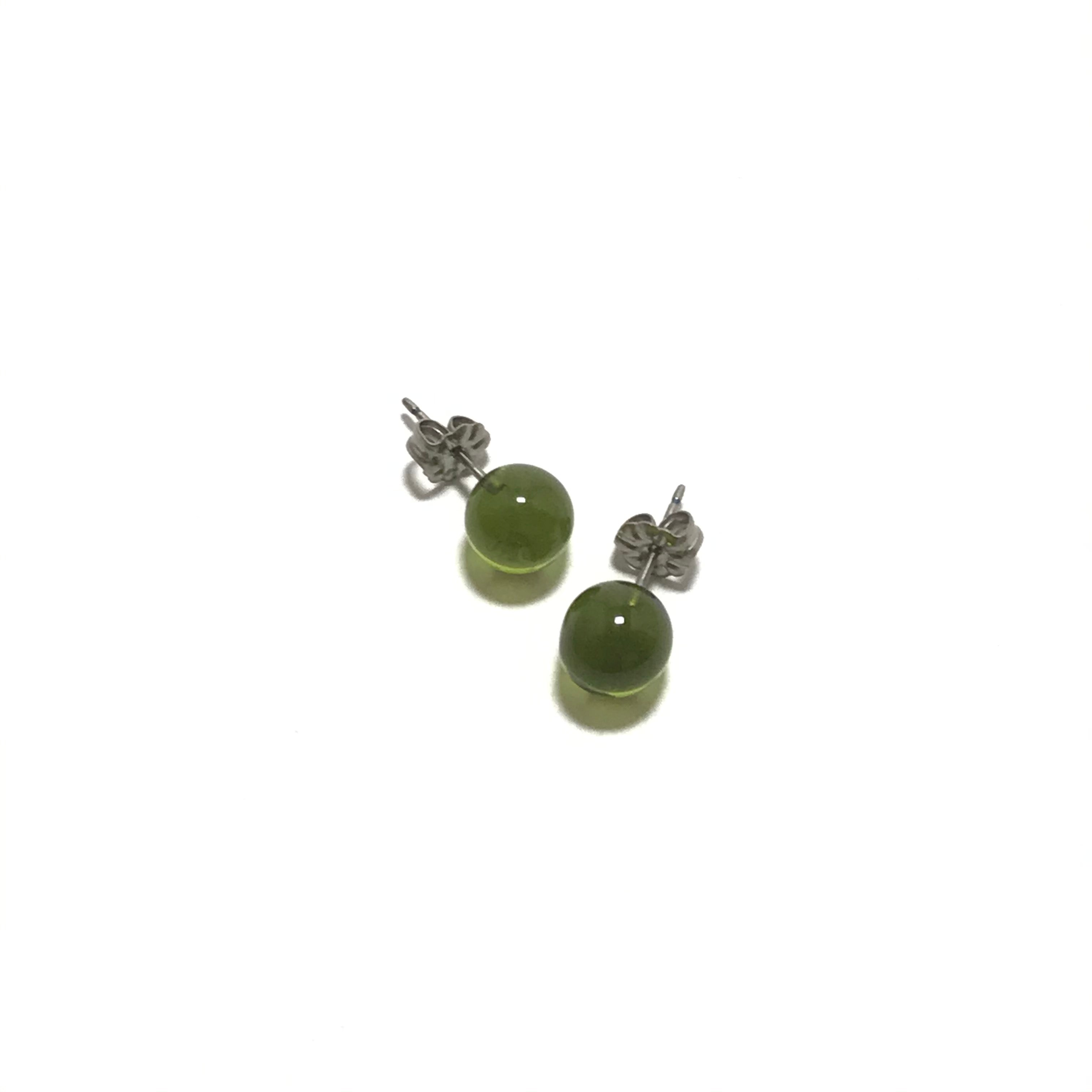 Krista Bermeo Globe Earrings in Lime