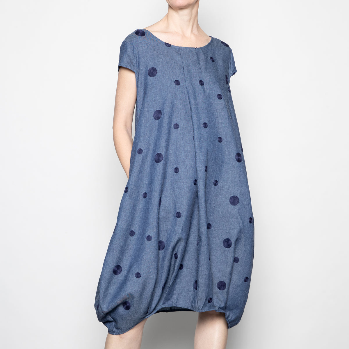 Bella Blue Dotted Dress