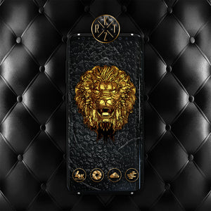 Black and Gold Lion Wallpaper