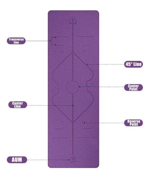 BODY ALIGNMENT YOGA MAT ACTIVE HOME FITNESS