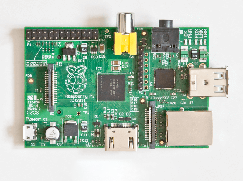The first Raspberry Pi Model