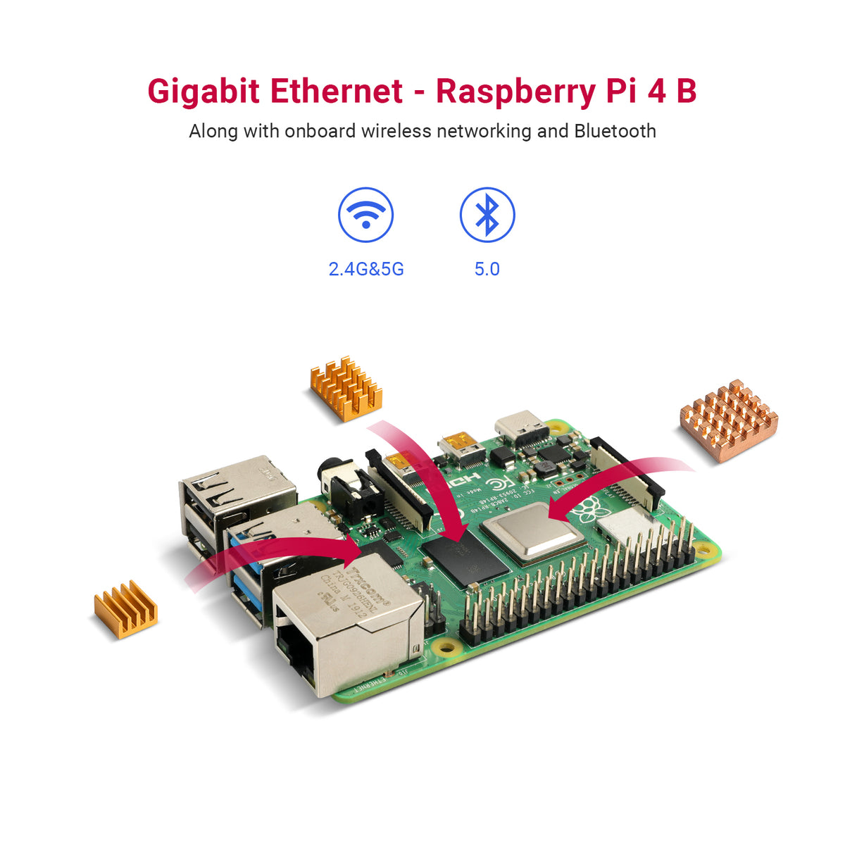 Raspberry Pi 4 B - Gigabit Ethernet