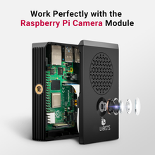 Load image into Gallery viewer, LABISTS Raspberry Pi 4 Case with Cooling Fan, 3 Heatsinks Works with Pi 4B and Camera Module