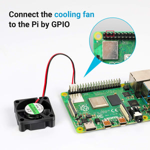LABISTS Raspberry Pi 4 Case with Cooling Fan, 3 Heatsinks Works with Pi 4B and Camera Module