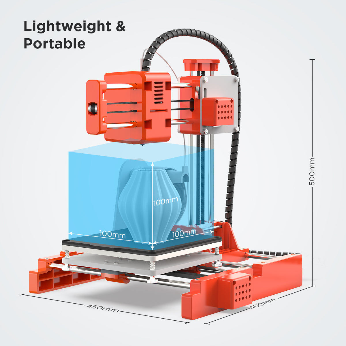 High Precision Mini 3D Printer, X1 Entry-Level 3D Printer DIY Kit