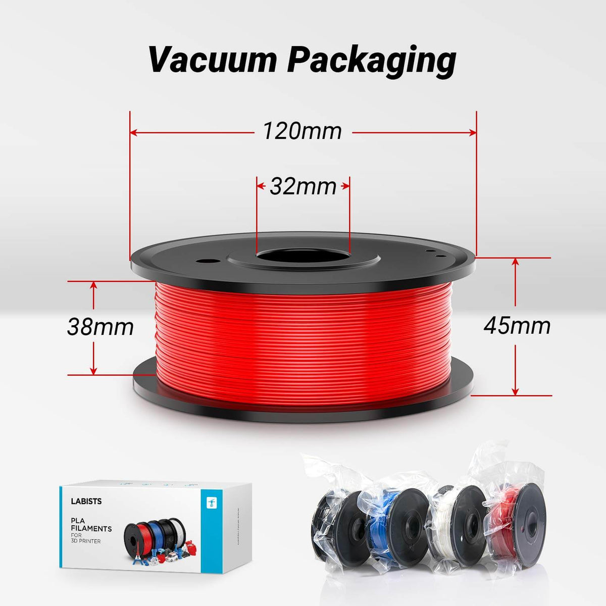 Printer PLA Filament Vacuum Packaging