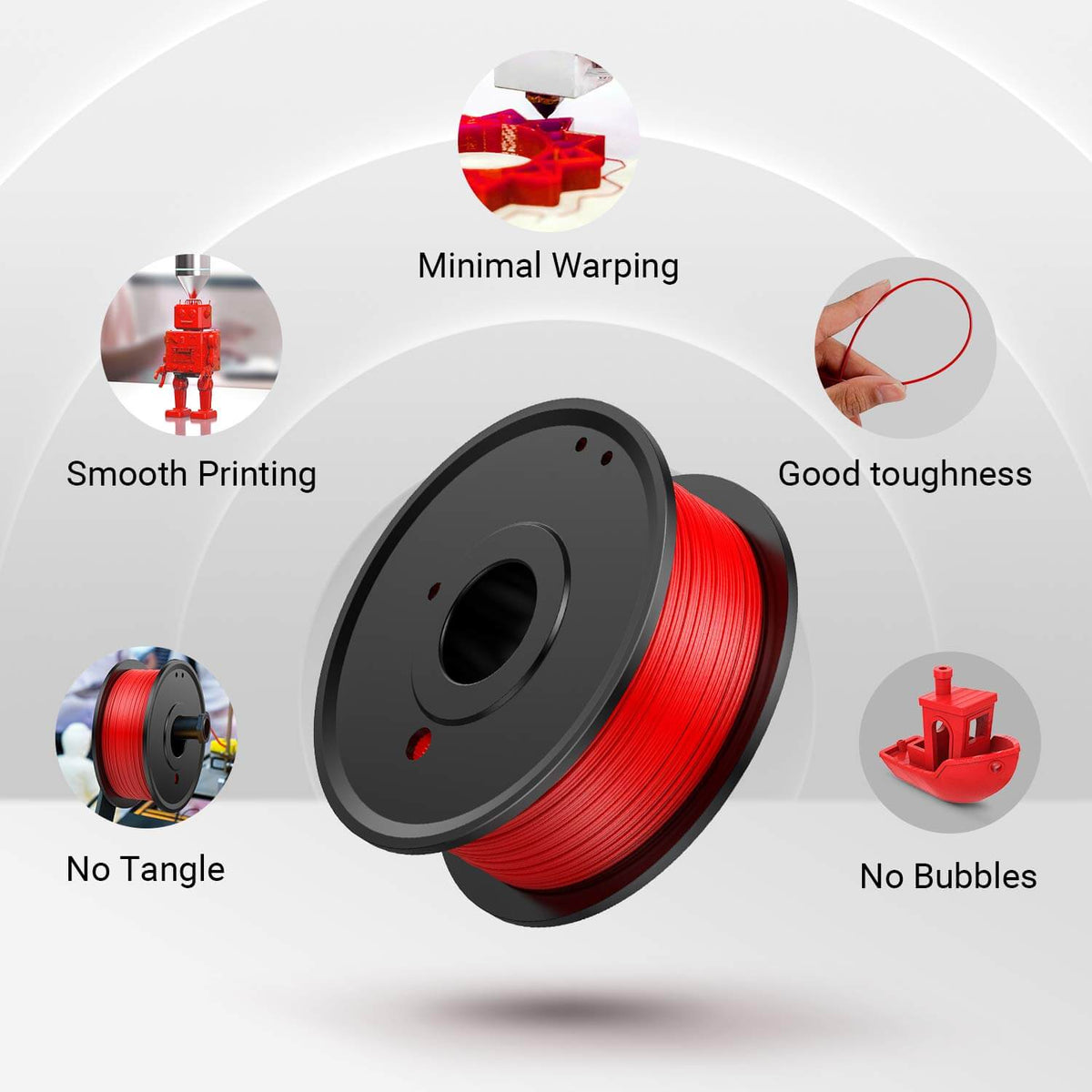 LABISTS 3D Printer PLA Filament red