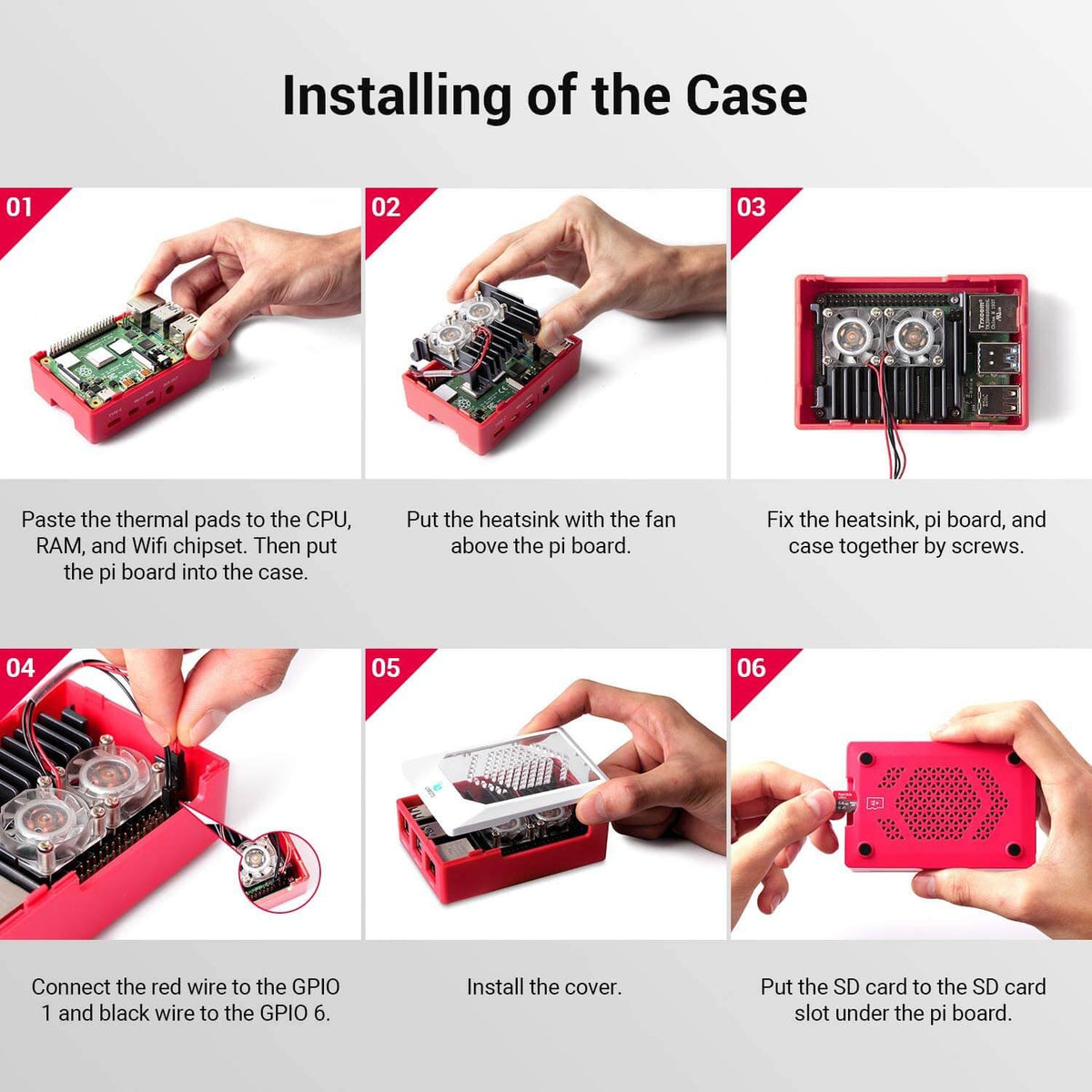 Installing of the raspberry pi case