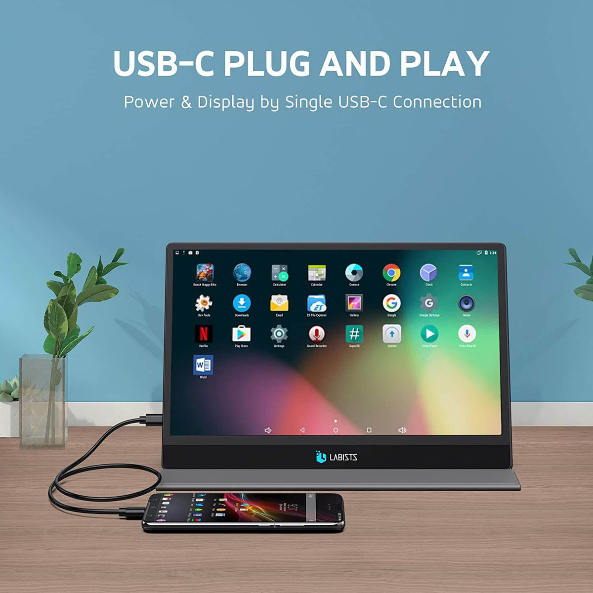 USE-C plug and play