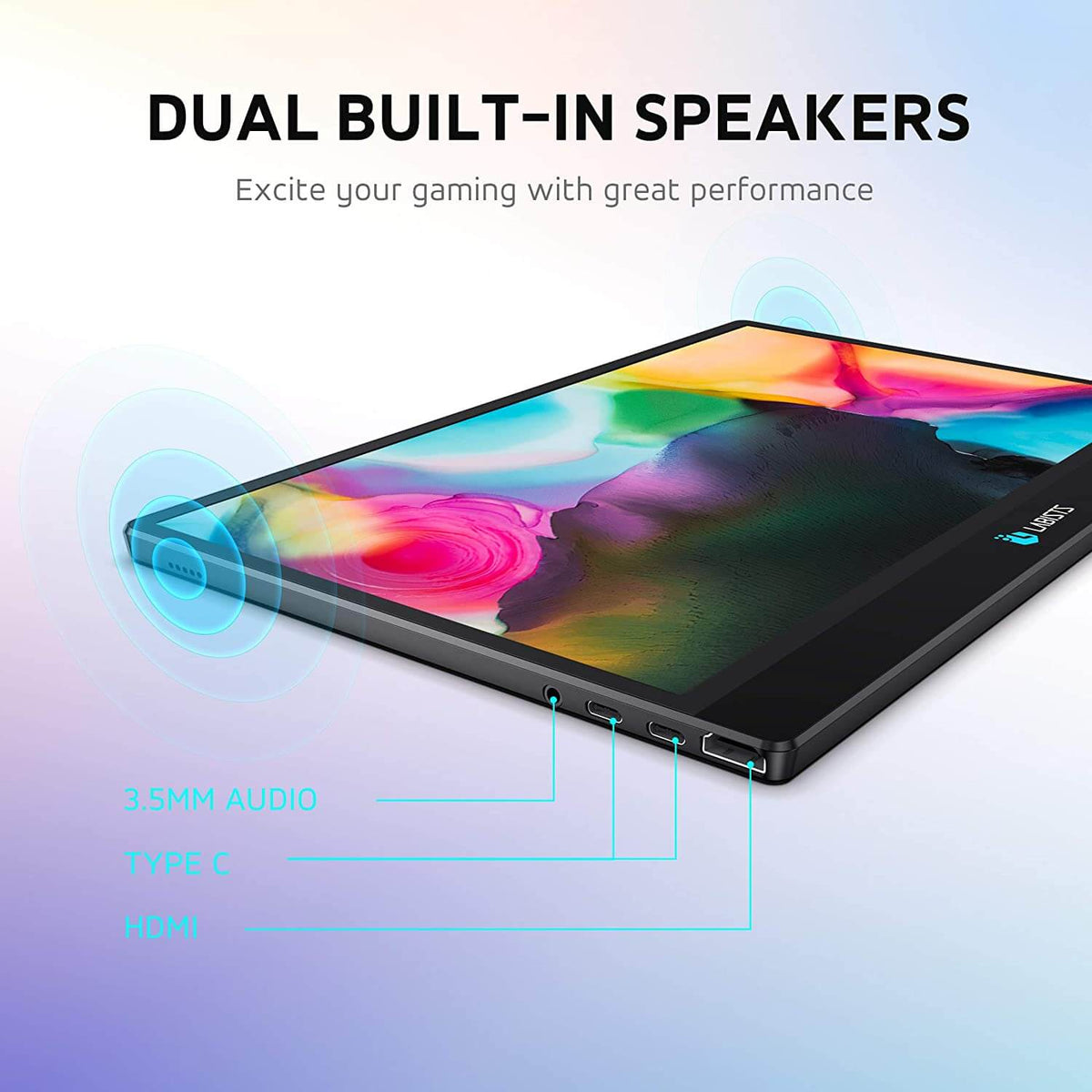 DUAL BUILT-IN SPEAKERS