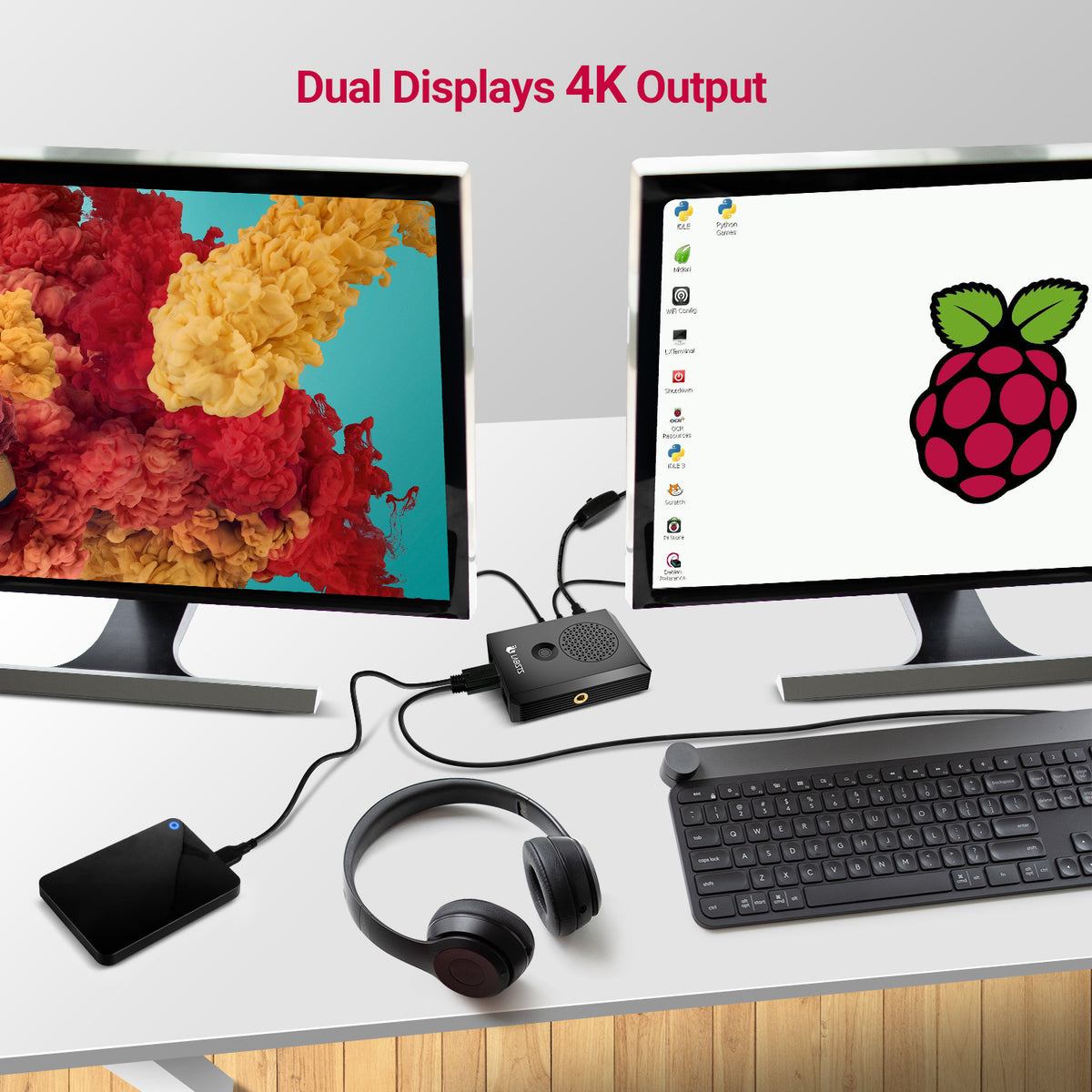 Raspberry Pi 4 dual displays 4K output