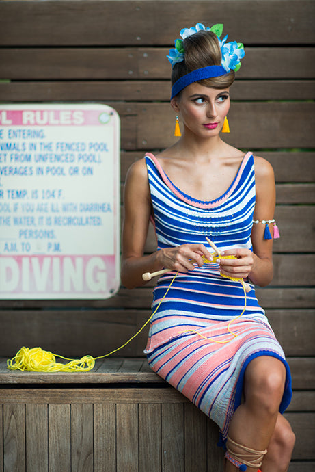 Tube Skirt Peachy Stripes 1-of-1