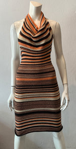 Cowl Neck Halter Dress