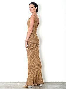 Variegated Bamboo Maxi Dress