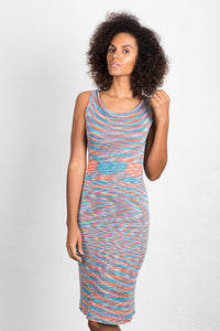 Variegated Bamboo Knit Tank Dress