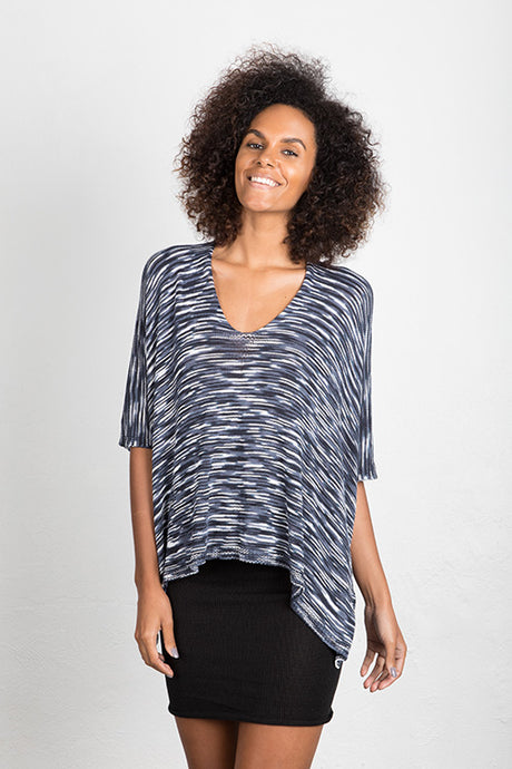 Bamboo Variegated Kaftan Top