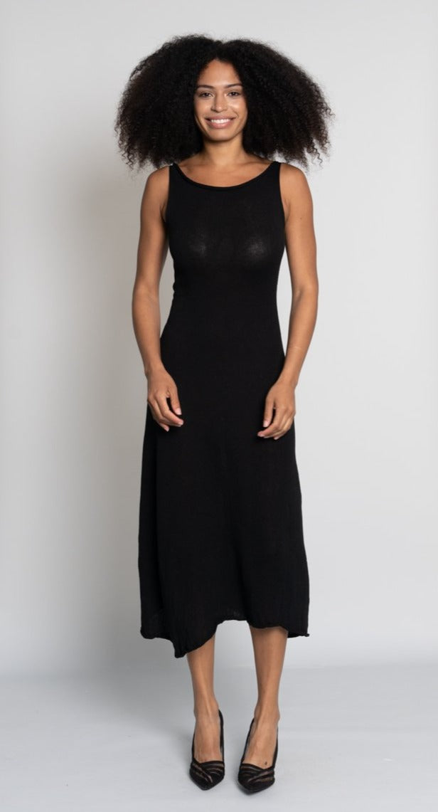 A-line Cotton Midi Dress