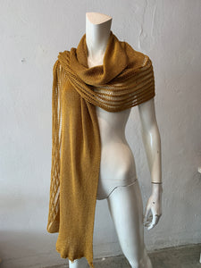 Golden Butterfly Scarf