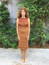 Load image into Gallery viewer, Shred Tank Dress Copper Stripes 1 off