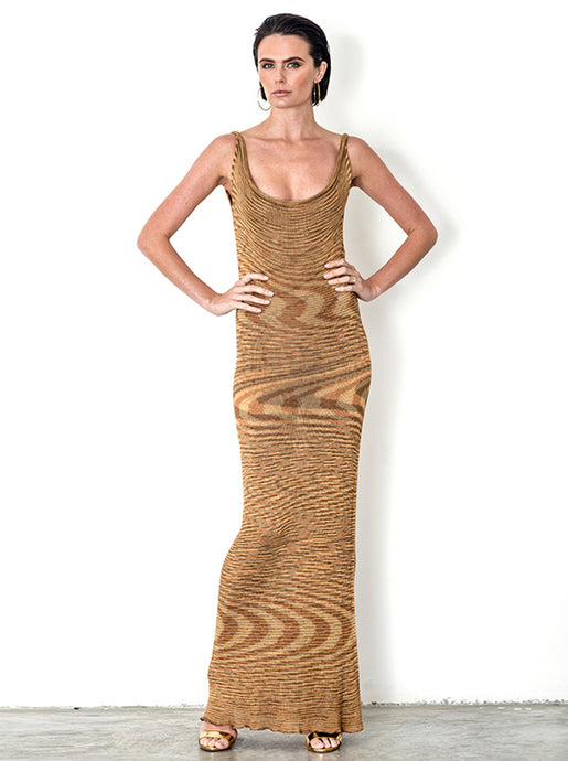 Variegated Bamboo Maxi Dress - MTO