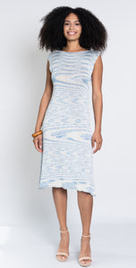Variegated bamboo knit dress