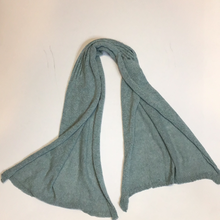 Load image into Gallery viewer, Light blue cotton scarf