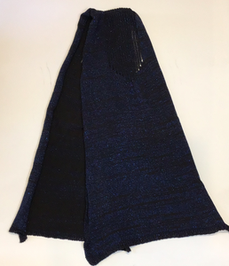 Blue sparkle pattern scarf