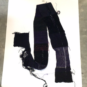 Shred black purple scarf