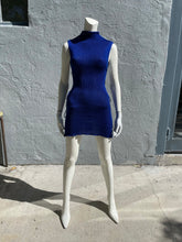 Load image into Gallery viewer, Mock Neck Lack Side Mini Dress