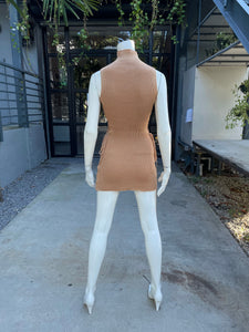 Mock Neck Lack Side Mini Dress