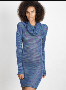 Cowl sweater dress