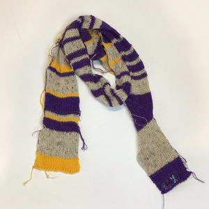 Purple beige yellow scarf