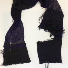 Load image into Gallery viewer, Shred black purple scarf