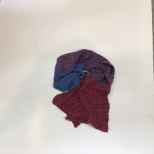 Load image into Gallery viewer, Purple fuscia gold scarf