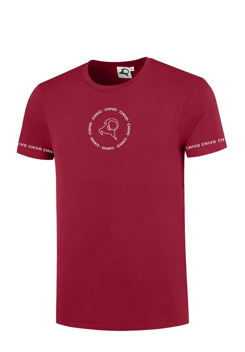 Men's Circle Sleeve T-shirt Burgundy Red (pre-order)