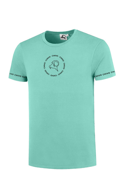 Men's Circle Sleeve T-shirt Mint Green (pre-order)