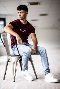 Men's Original T-shirt Burgundy Red
