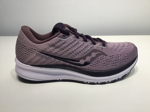 Ladies Saucony Ride 13 Running Shoes. Blush/Dusk